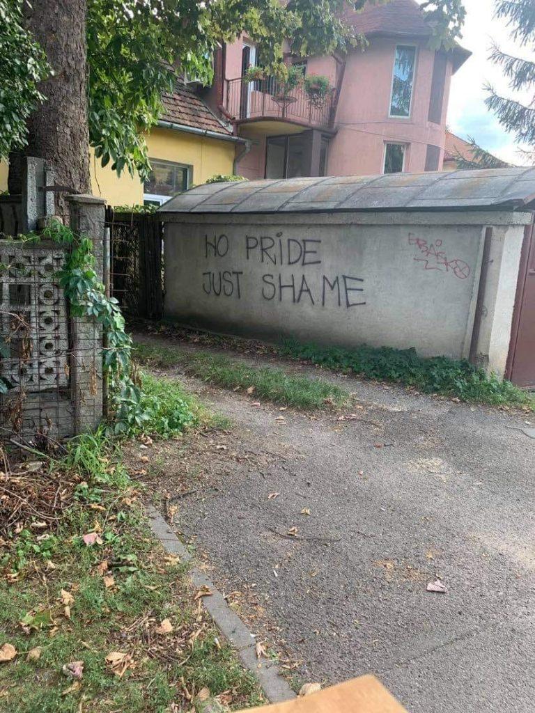 Anti-LGBTQ+ graffiti