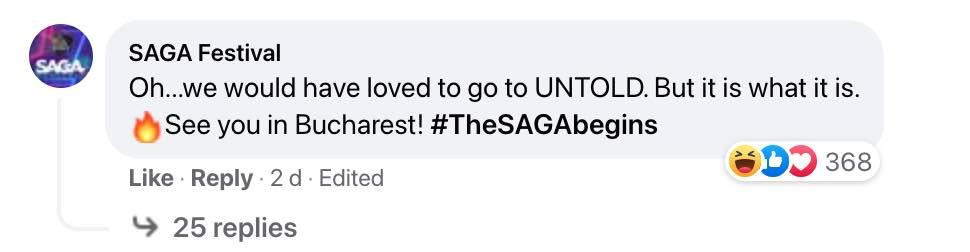 SAGA vs UNTOLD Festival 2021