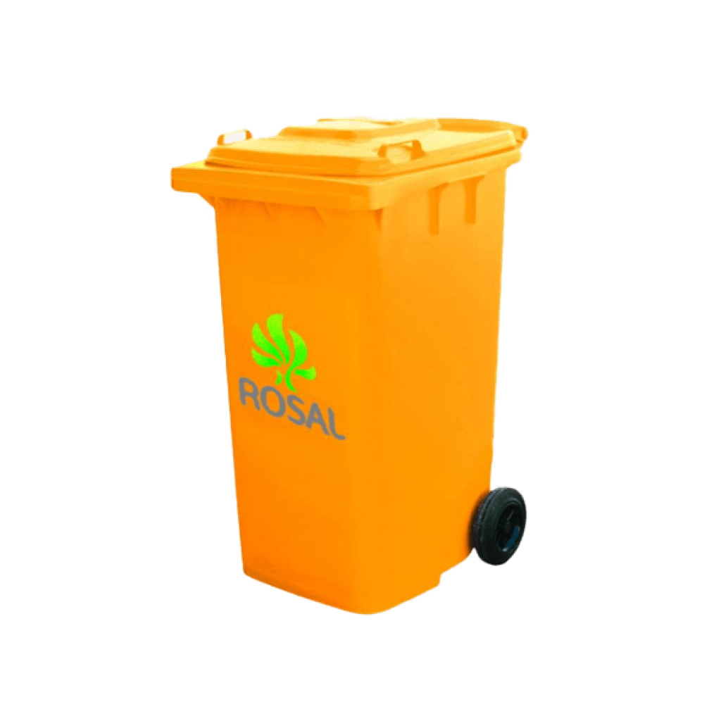 Plastic and Metal Trash Can